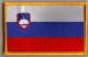 Slovenia Embroidered Flag Patch, style 08.
